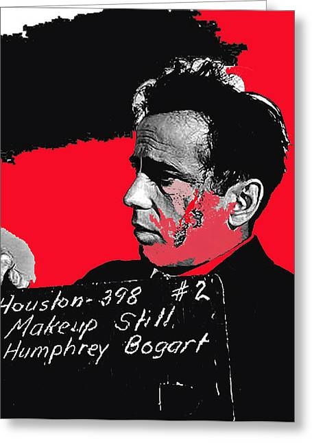 Maltese Falcon Greeting Cards - Film homage  The Maltese Falcon 1941 collage Humphrey Bogart makeup test 1941-2009  Greeting Card by David Lee Guss