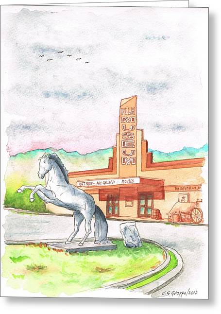 Lone Horse Greeting Cards - Film Museum in Lone Pine - California Greeting Card by Carlos G Groppa