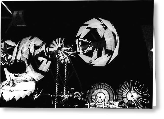 Arizona State Fair Greeting Cards - Film noir Billy Wilder Kirk Douglas The Big Carnival 1 1951 Arizona midway state fair phoenix 1968 Greeting Card by David Lee Guss