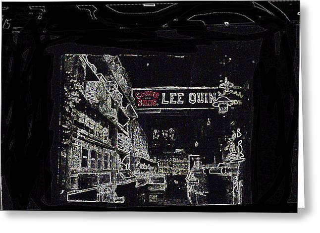Hommage Greeting Cards - Film noir hommage Chinatown Chinese store barrio Tucson Arizona c.1885-2008 Greeting Card by David Lee Guss