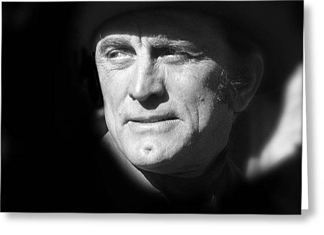 Kirk Douglas Greeting Cards - Film noir Kirk Douglas Ace In the Hole 1951 Old Tucson Arizona 1971 desaturated 2012 Greeting Card by David Lee Guss