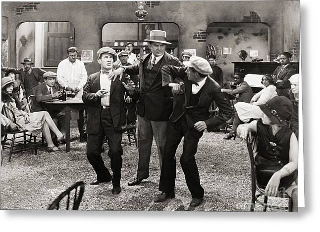 Bowtie Greeting Cards - Film Still: Fights Greeting Card by Granger