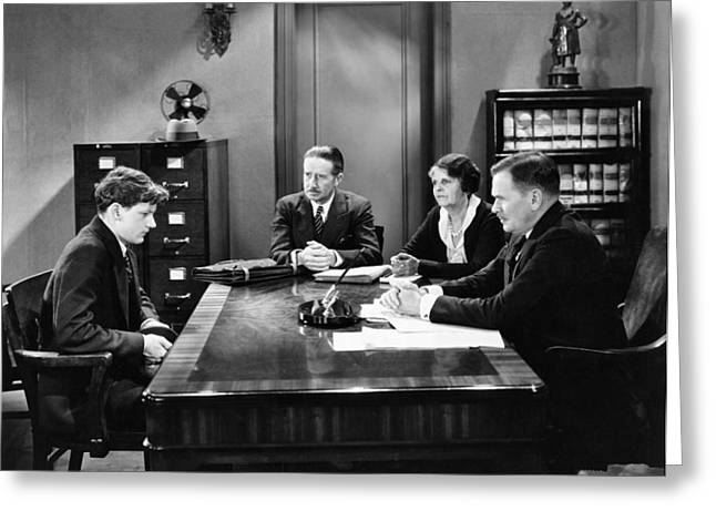 Film Still Office Scene Greeting Card by Underwood Archives