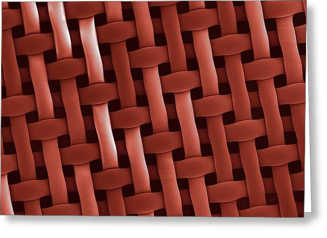 Interwoven Greeting Cards - Filter, SEM Greeting Card by Science Photo Library