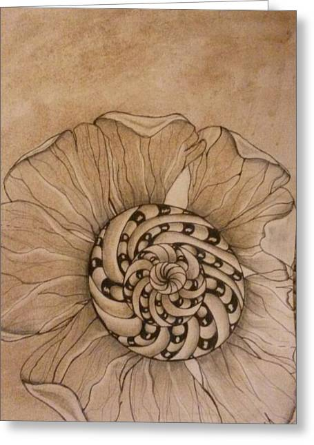 Filtered Flower Greeting Card by Lori Thompson