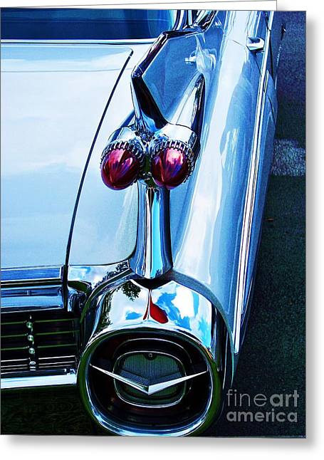 Glass Reflecting Greeting Cards - Fin Greeting Card by Chuck  Hicks