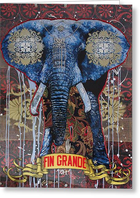 Graffitti Art Greeting Cards - Fin Grande Greeting Card by Gary Kroman