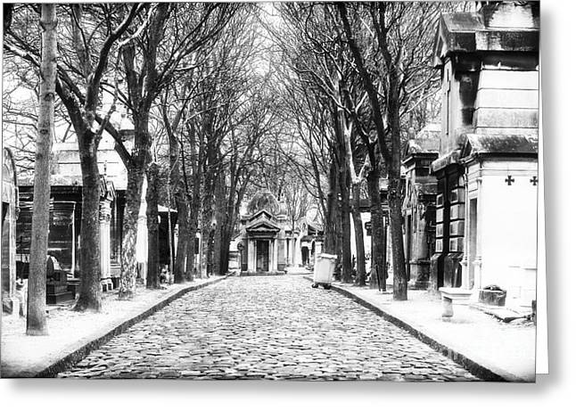 Cemeteries Of Paris Greeting Cards - Final Destination in Paris Greeting Card by John Rizzuto