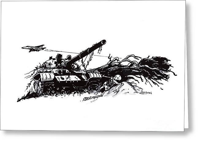 Overgrown Drawings Greeting Cards - Final Flyby Greeting Card by Joseph Juvenal