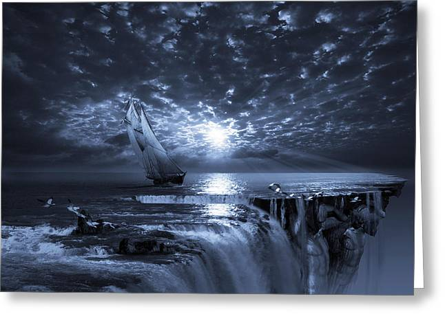 Boat Cruise Digital Greeting Cards - Final Frontier Voyager Greeting Card by George Grie