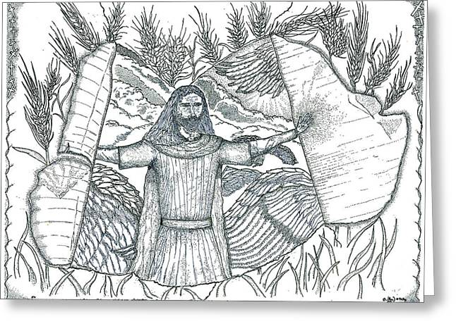 Pen And Ink Drawing Greeting Cards - Final Harvest Greeting Card by Glenn McCarthy Art and Photography