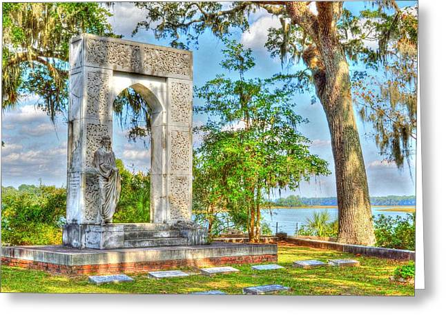 Headstones Sculptures Greeting Cards - Final resting place Greeting Card by Linda Covino