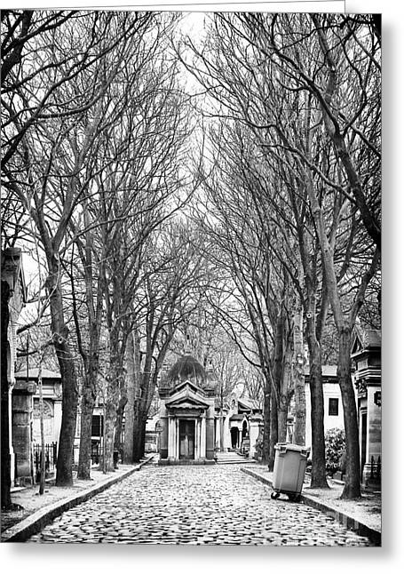 Cemeteries Of Paris Greeting Cards - Final Walk Greeting Card by John Rizzuto