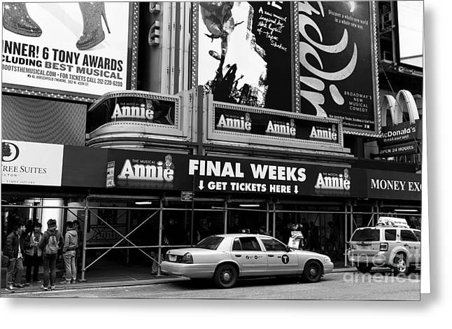 Broadway Musical Greeting Cards - Final Weeks mono Greeting Card by John Rizzuto