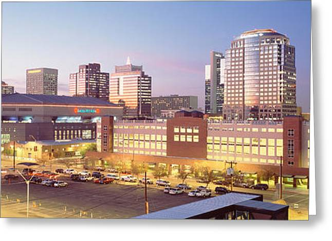 Phoenix Architecture Greeting Cards - Financial District, Phoenix, Arizona Greeting Card by Panoramic Images