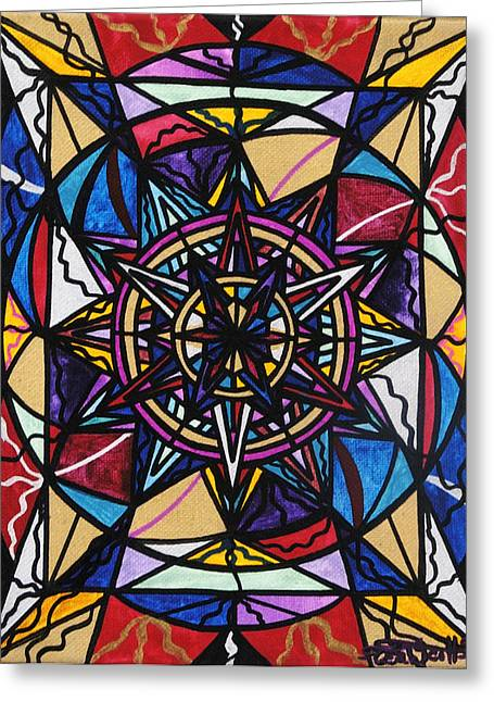 Geometric Art Greeting Cards - Financial Freedom Greeting Card by Teal Eye  Print Store