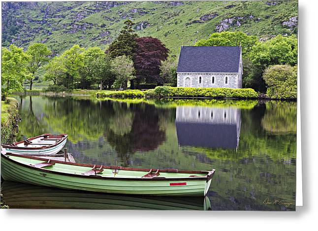 Gougane Barra Church Greeting Cards - Finbarrs Retreat Greeting Card by Dan McGeorge