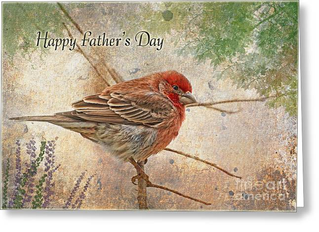 Debbie Portwood Greeting Cards - Finch Greeting Card Fathers Day Greeting Card by Debbie Portwood