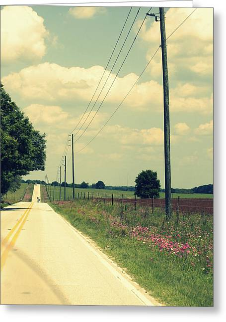 Long Street Greeting Cards - Find A Back Road Greeting Card by Laurie Perry