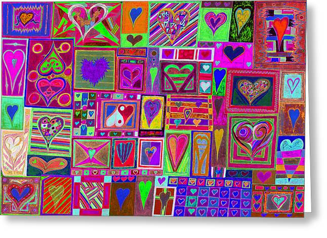 Mind Freedom. Art Therapy Greeting Cards - find Ur love found v5 Greeting Card by Kenneth James