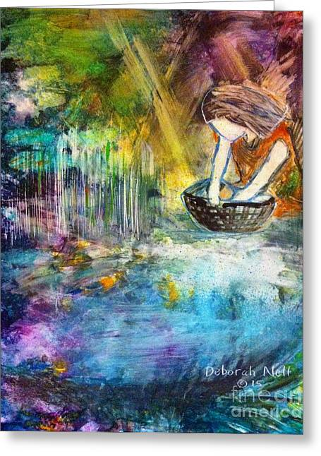 Testament Greeting Cards - Finding Moses Greeting Card by Deborah Nell
