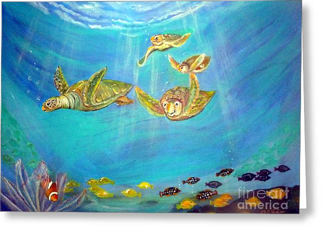 Triggerfish Paintings Greeting Cards - Finding Nemo Greeting Card by To-Tam Gerwe