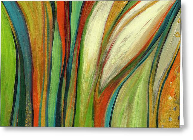 Abstract Greeting Cards - Finding Paradise Greeting Card by Jennifer Lommers