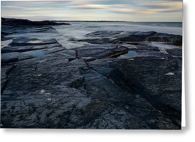 New England Ocean Greeting Cards - Finding Peace Greeting Card by Lourry Legarde