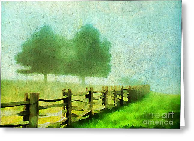Split Rail Fence Greeting Cards - Finding your Way Greeting Card by Darren Fisher