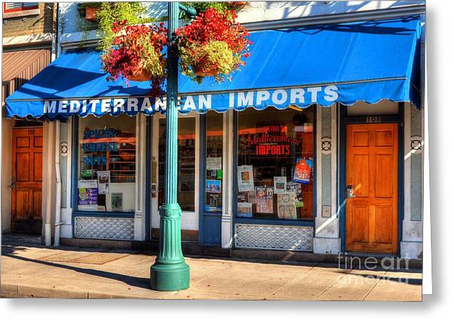 Grocery Store Greeting Cards - Findlay Market Imports Greeting Card by Mel Steinhauer