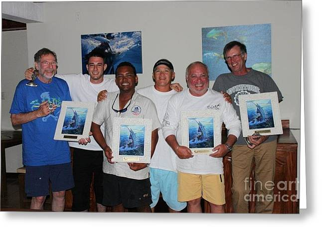 Marlin Tournaments Greeting Cards - Fine art tile trophies Greeting Card by Carey Chen