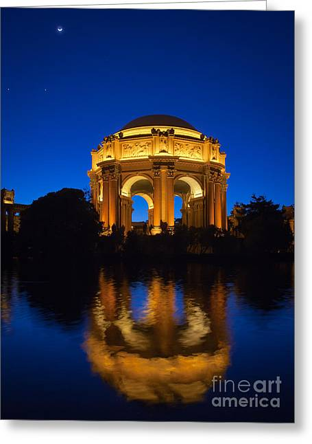 Reflecting Water Greeting Cards - Fine Arts Palace Greeting Card by Inge Johnsson