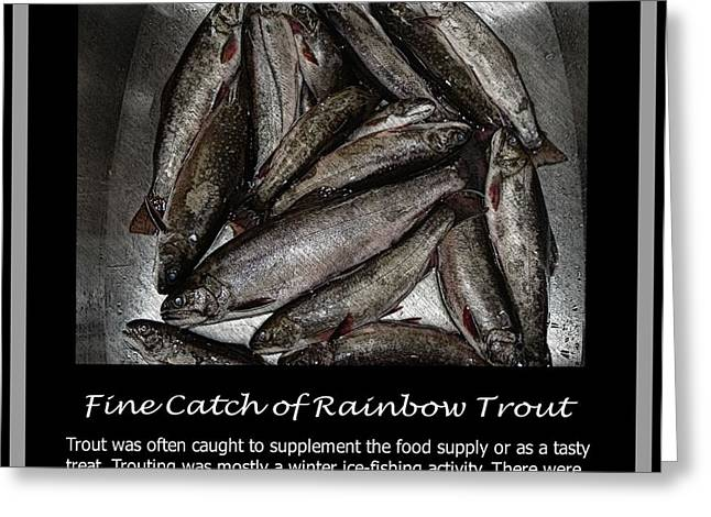 Rainbow Trout Greeting Cards - Fine Catch of Rainbow Trout Greeting Card by Barbara Griffin