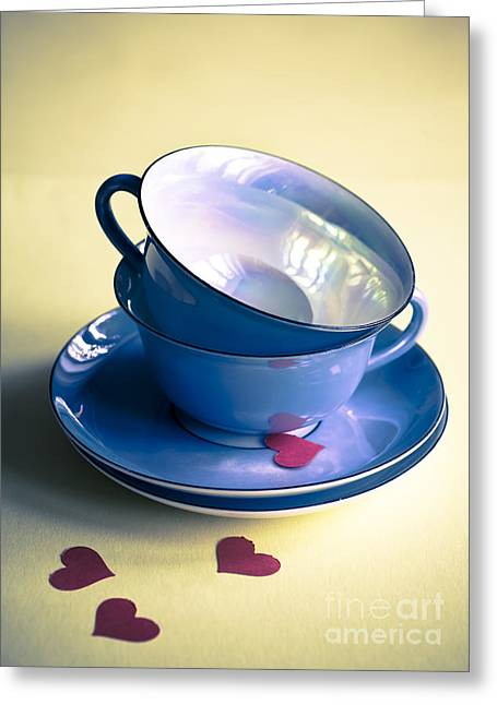 Teacup Greeting Cards - Fine China Greeting Card by Jan Bickerton