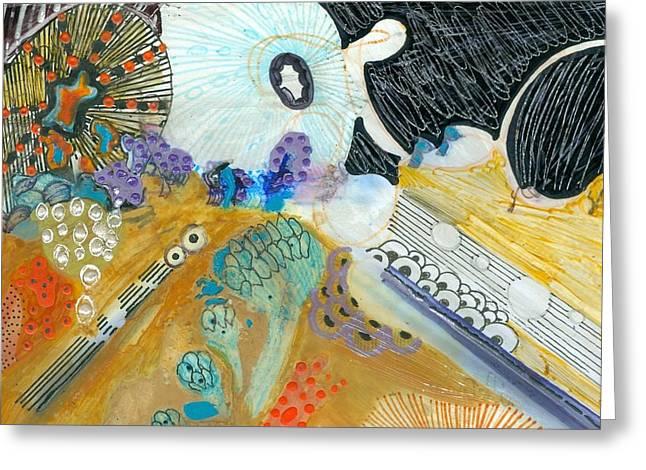 Fine Line Greeting Card by Ingrid  Holborn