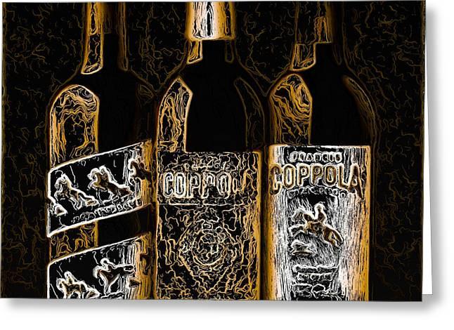 Fine Wine Greeting Card by Chris Fulks