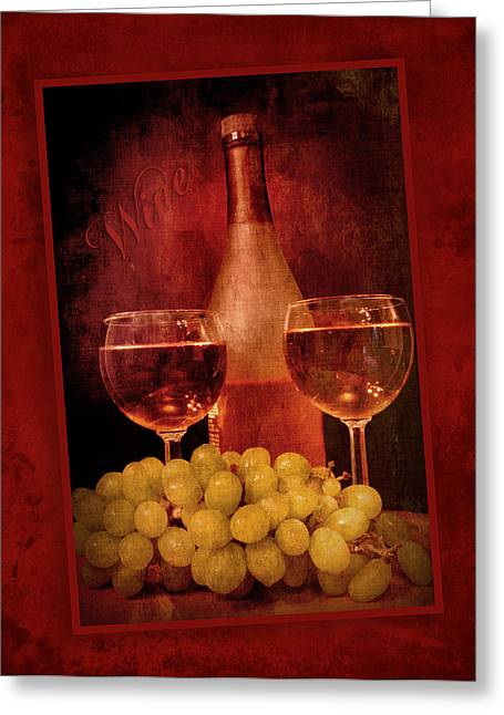 Wine Pour Digital Greeting Cards - Fine Wine Greeting Card by Cindy Haggerty