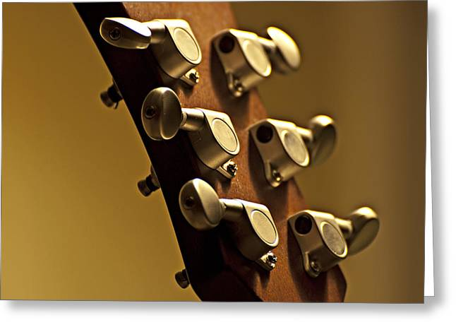 Acoustic Guitar Greeting Cards - Finely Tuned Greeting Card by Christopher Gaston