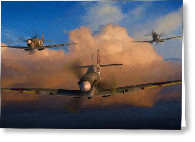 Spitfire Greeting Cards - Finest Hour Greeting Card by Dale Jackson