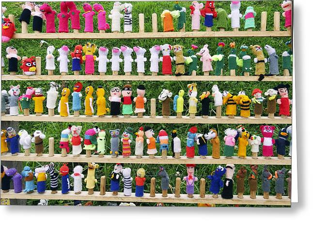 Characterization Greeting Cards - Finger Dolls Greeting Card by Kurt Van Wagner
