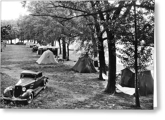 Finger Lakes Camping Greeting Card by Underwood Archives