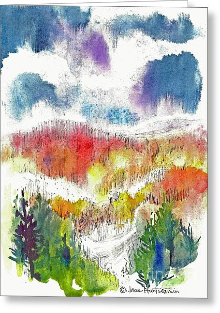 Fingerlakes Greeting Cards - Finger Lakes Fall Greeting Card by Joan Hartenstein