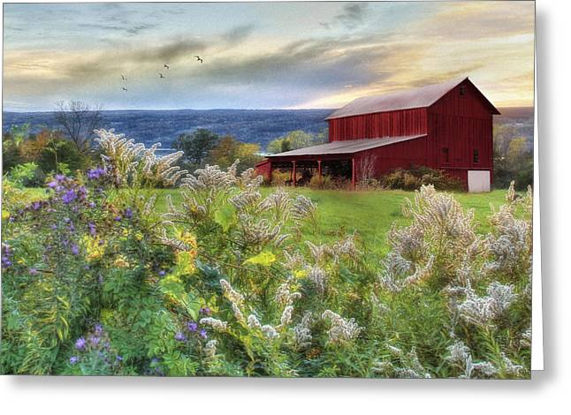 Upstate Ny Greeting Cards - Finger Lakes Farm Greeting Card by Lori Deiter