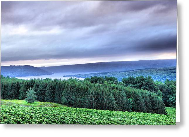 Keuka Lake Greeting Cards - Finger Lakes Landscape Greeting Card by Steven Ainsworth