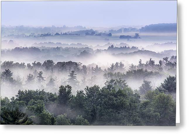 Finger Lakes Morning Greeting Card by Michele Steffey