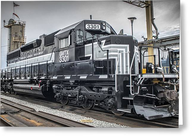 Finger Lakes Greeting Cards - Finger Lakes Railway 3301 at Madisonville Ky Greeting Card by Jim Pearson