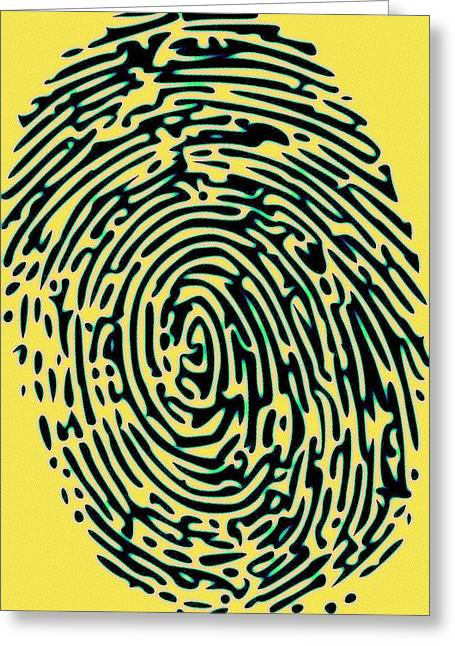 Police Art Greeting Cards - Finger Tip Tale Greeting Card by Florian Rodarte