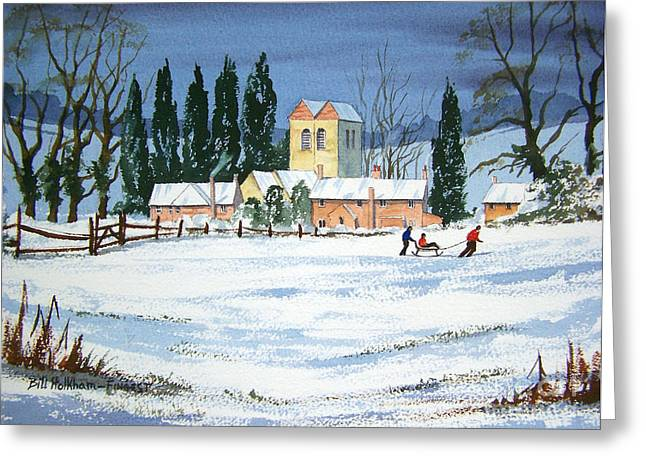 Grade 1 Greeting Cards - Fingest Village England  Greeting Card by Bill Holkham