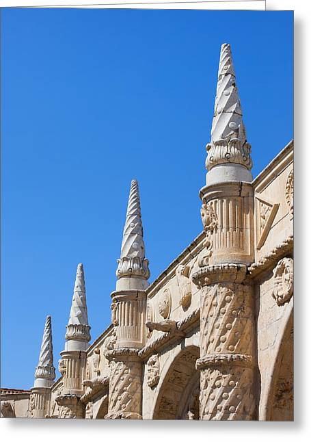 Finial Greeting Cards - Finials with Manueline Tracery Greeting Card by Artur Bogacki