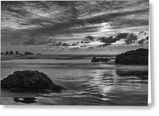 Beach Scenery Greeting Cards - Finishing the Day II Greeting Card by Jon Glaser